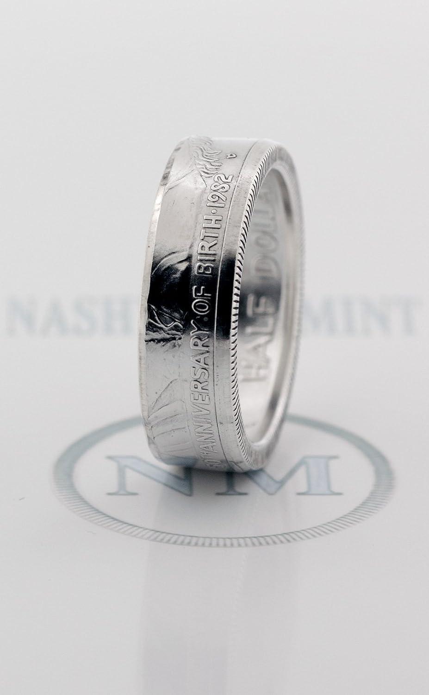 Amazon Com 1982 Silver Half Dollar Coin Ring George Washington Us