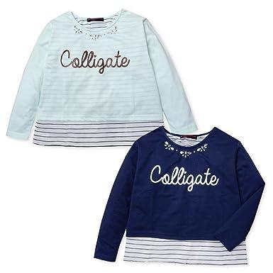 0de1888184efd (ネイビー 160cm)子供服 女の子 Tシャツ 長袖 Dolly Ribbon ドーリーリボン ゆったり