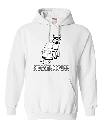 0bf90d3708a Amazon.com  Go All Out Adult Stormtroopurr Funny Sweatshirt Hoodie ...