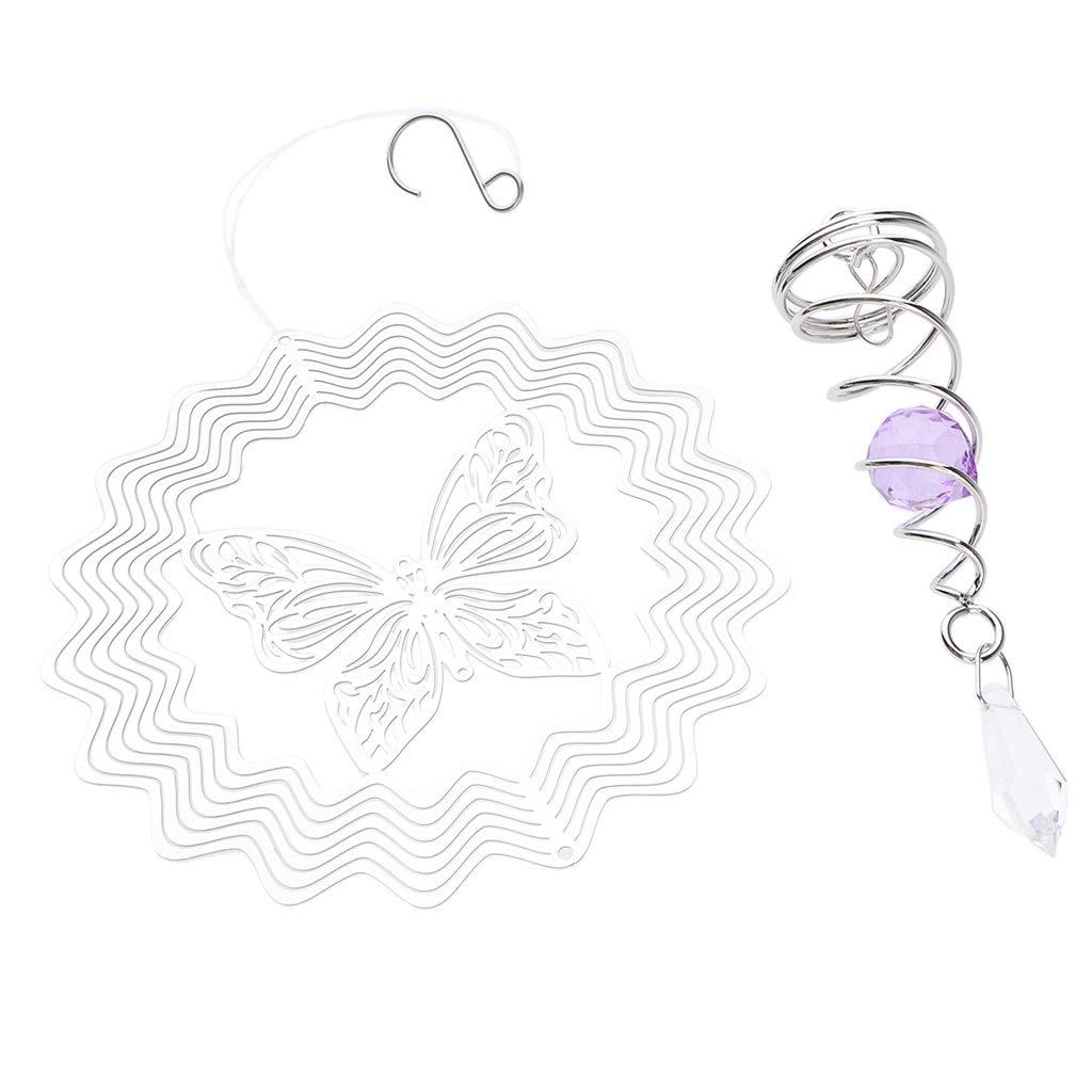 Achteckform Homyl Windspiel Windspinner mit Glaskugeln und Verschiedene Muster f/ür Innen//Au/ßen Deko