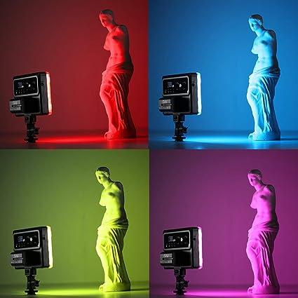 GVM LED V/ídeo en la luz de la c/ámara tlci//CRI 95/ Temperatura Bicolor 3200/K-5600/K Dimmable 240/LED luz de Bolsillo de Torno para Estudio de fotograf/ía Youtube