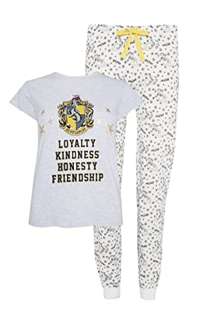 Primark Ladies Girl`s Womens Harry Potter Hufflepuff Yellow Pyjama Set  Pajama PJ Set UK S-XL (UK L 14-16)  Amazon.co.uk  Clothing c686b2fc2