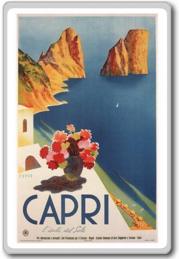 Italy Capri Europe Vintage Travel Fridge Magnet Aimant de r/éfrig/érateur