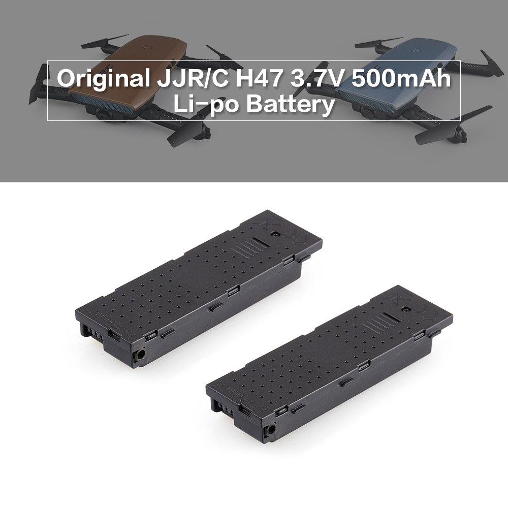 Goolsky 2 unids JJR / C 3.7 V 500 mAh Li-po Batería para JJR / C ...