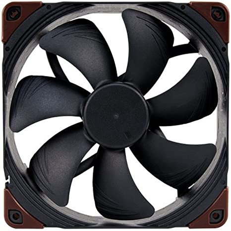 Noctua NF-A14 iPPC-2000 PWM Heavy Duty Cooling Fan with 2000RPM 140mm, Black 4-Pin