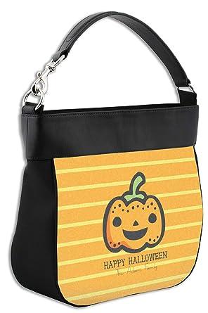 Amazon.com: Halloween Pumpkin Hobo Monedero con borde de ...