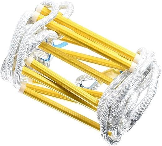 HXPP Escalera de Incendio Escalera 3 Cuento for Adultos portátil de Escalera de Escape |Pequeño y fácil de almacenar |Cliente Plena garantía-10m: Amazon.es: Hogar