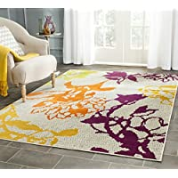Safavieh Porcello Collection PRL7729B Light Grey and Purple Area Rug (6 x 9)