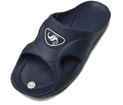 57defa661d3d ICS Men s Rubber Slide Sandal Slipper Comfortable Shower Beach Shoe Slip On  Flip Flop