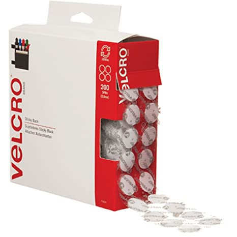 073d7ca903fb0 VELCRO Brand - Sticky Back Hook and Loop Fasteners | Perfect for Home or  Office | 3/4in Coins | Pack of 200 | White