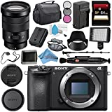 Sony Alpha a6500 Mirrorless Digital Camera (Body) ILCE6500/B + Sony E PZ 18-105mm f/4 G OSS Lens SELP18105G + NP-FW50 Replacement Lithium Ion Battery + Deluxe Cleaning Kit Bundle