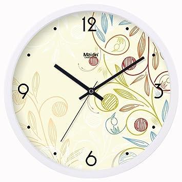 Amazon.de: Moderne Wanduhr/ Wohnzimmer Büro still-Uhr/Kalender ...