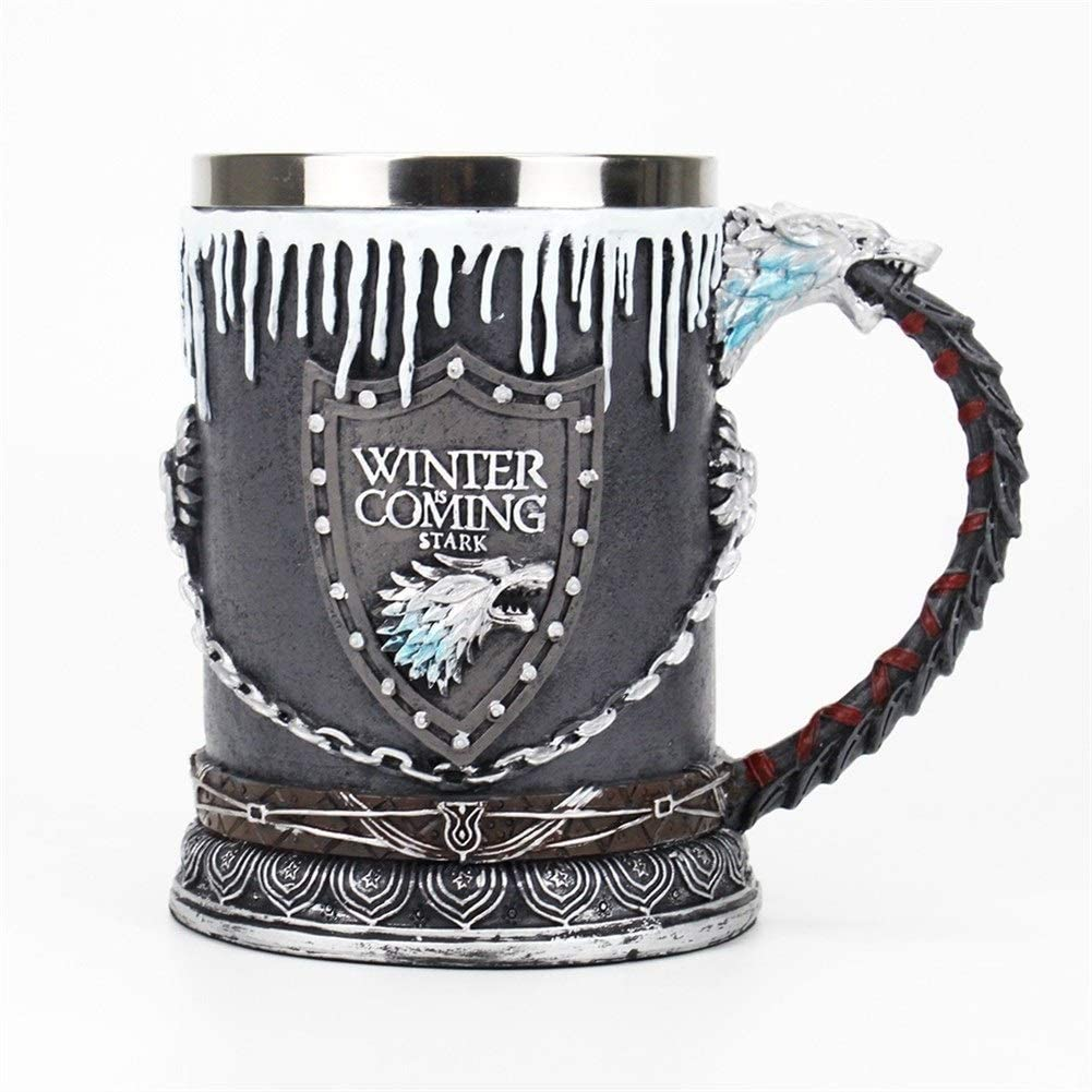 Ready to Ship Pottery Rivet Metal Pint Ceramic Cup  Beer Mug Cider Steampunk Gothic Game of Thrones Glass Grog