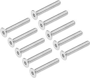 uxcell Hex Screw Bolt,Metric M6x20mm 304 Stainless Steel Hexagonal Screw Bolt Silver 10pcs