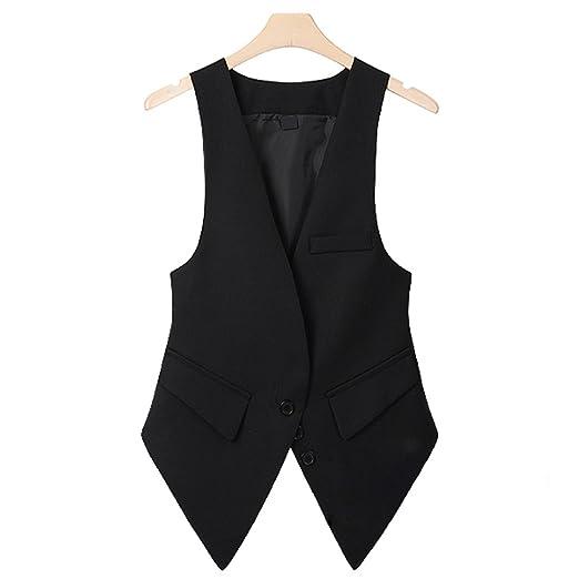 da01676fa8b JIANGTAOLANG Office Lady Suit Vest Plus Size Sleeveless Blazer Camel Female  Waistcoat V Neck Jacket Black