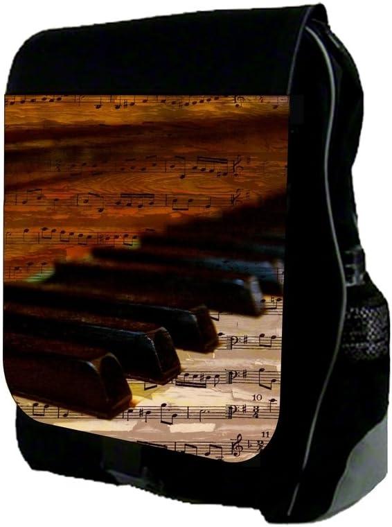 Music Note Piano Imprint Design TM School Backpack