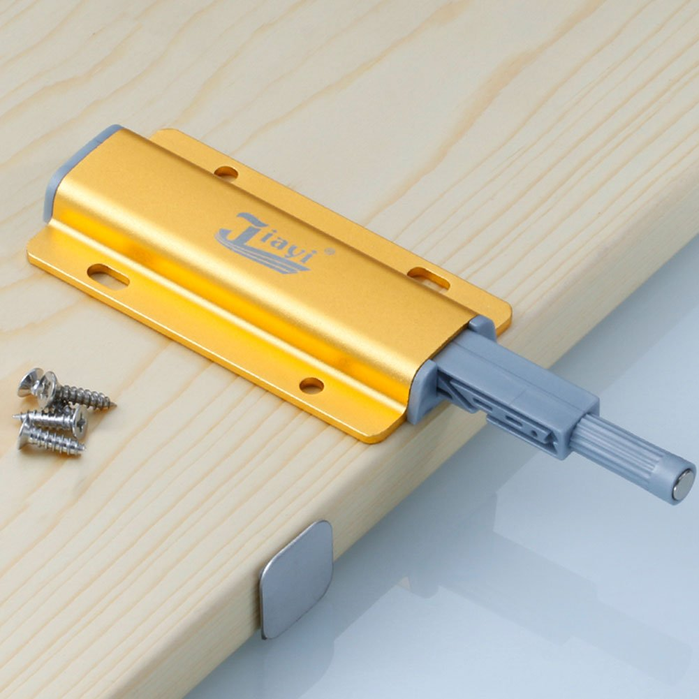 Yosooo Cabinet Door Drawer Damper Buffer Push To Open System Latch with Magnetic Tip 5 Pcs(Gold) by Yosooo (Image #7)