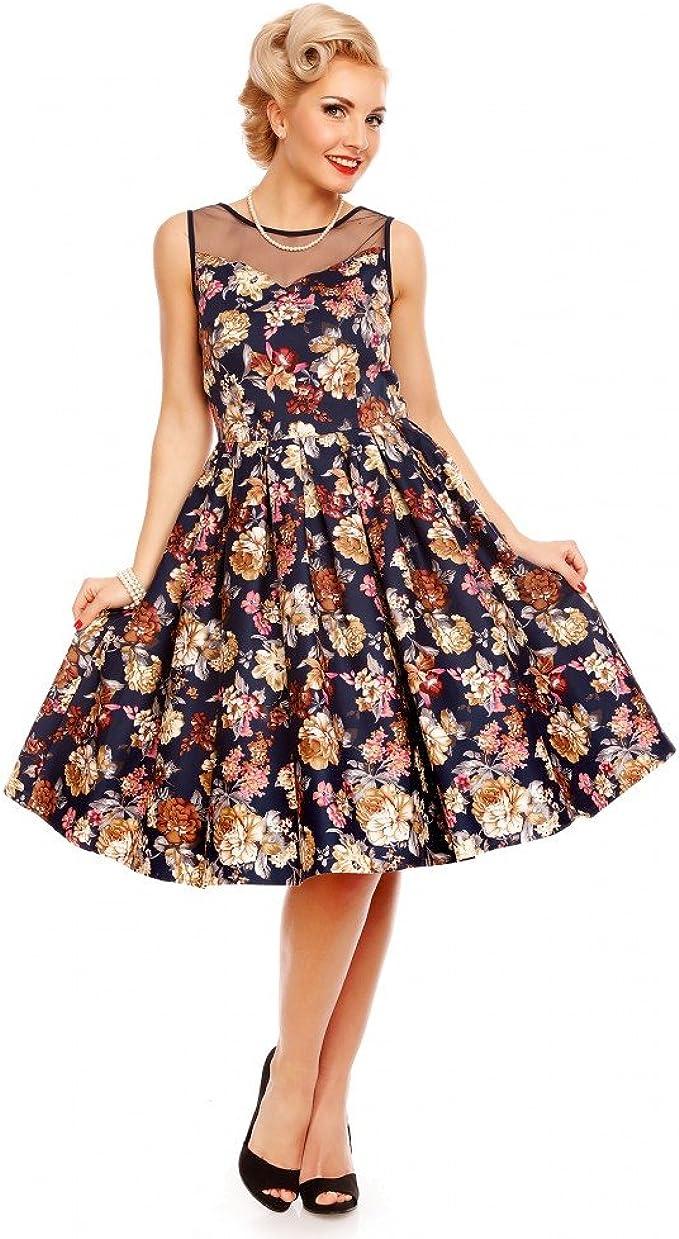 Dolly and Dotty Damen Kleid Marineblau: Amazon.de: Bekleidung