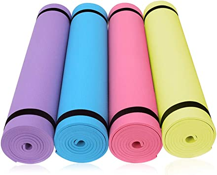 DIANZHI colchoneta de Ejercicios colchoneta de Yoga colchoneta de Ejercicios colchoneta de Ejercicios Antideslizante - Pilates, Abdominales, hogar, Gimnasio Hombres y Mujeres