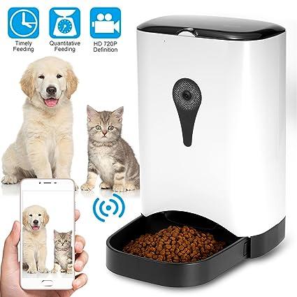 KKmoon Alimentador Automático para Gatos Perros Mascotas, Dispensadores Automatico, Control de Porciones, Grabación