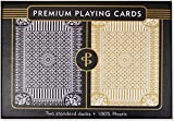 img - for Black & Gold Premium Plastic Playing Cards, Set of 2, Poker Size Deck (Standard Index) book / textbook / text book
