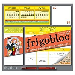 Semaine 2019 Calendrier.Frigobloc 2019 Calendrier D Organisation Familiale Par
