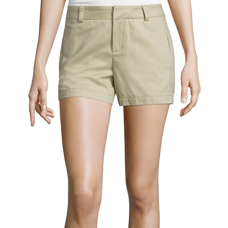 Stylus Twill Cotton Shorts Biscotti