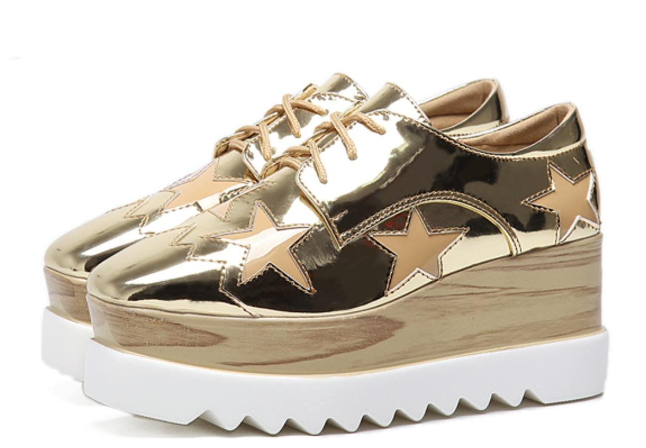 XDGG weiblichen Frauen 's 2017 dicken Sohlen Schuhe lose weiblichen XDGG Hang einzigen Schuh beiläufige Schuhe , gold , 40 - fbf581