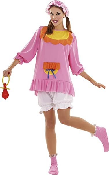 Disfraces BT - Disfraz adulto bebé color rosa talla m-l: Amazon.es ...
