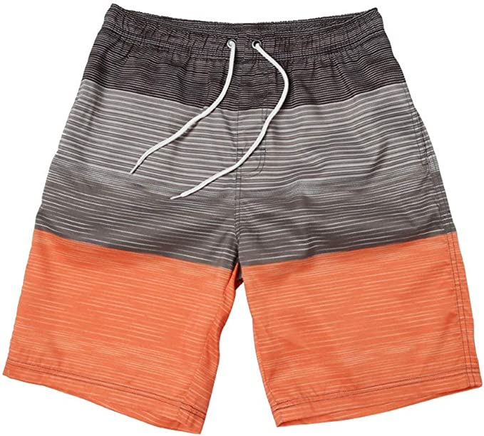 Mens Christmas Sweater Leaf Pattern Shorts Lightweight Swim Trunks Beach Shorts,Boardshort 33