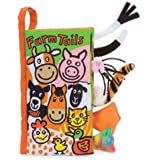 XILALU Infant Kid Baby Animal Tails Cloth book Baby Toy Cloth Development Books Learning Education Books (C)