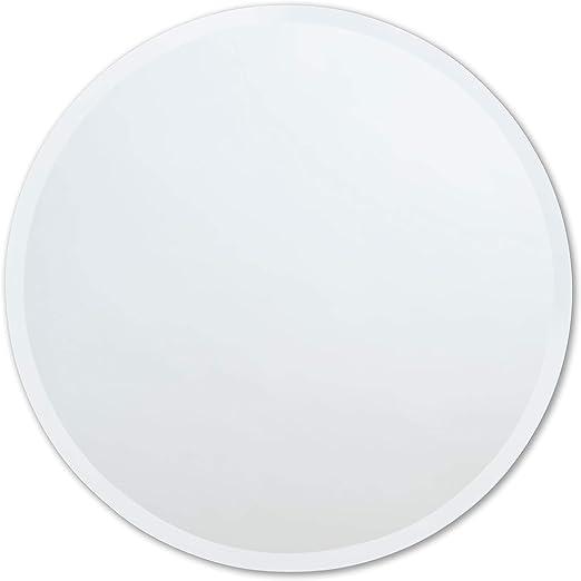 better bevel 18 x 18 frameless round mirror 1 beveled edge bathroom wall mirror