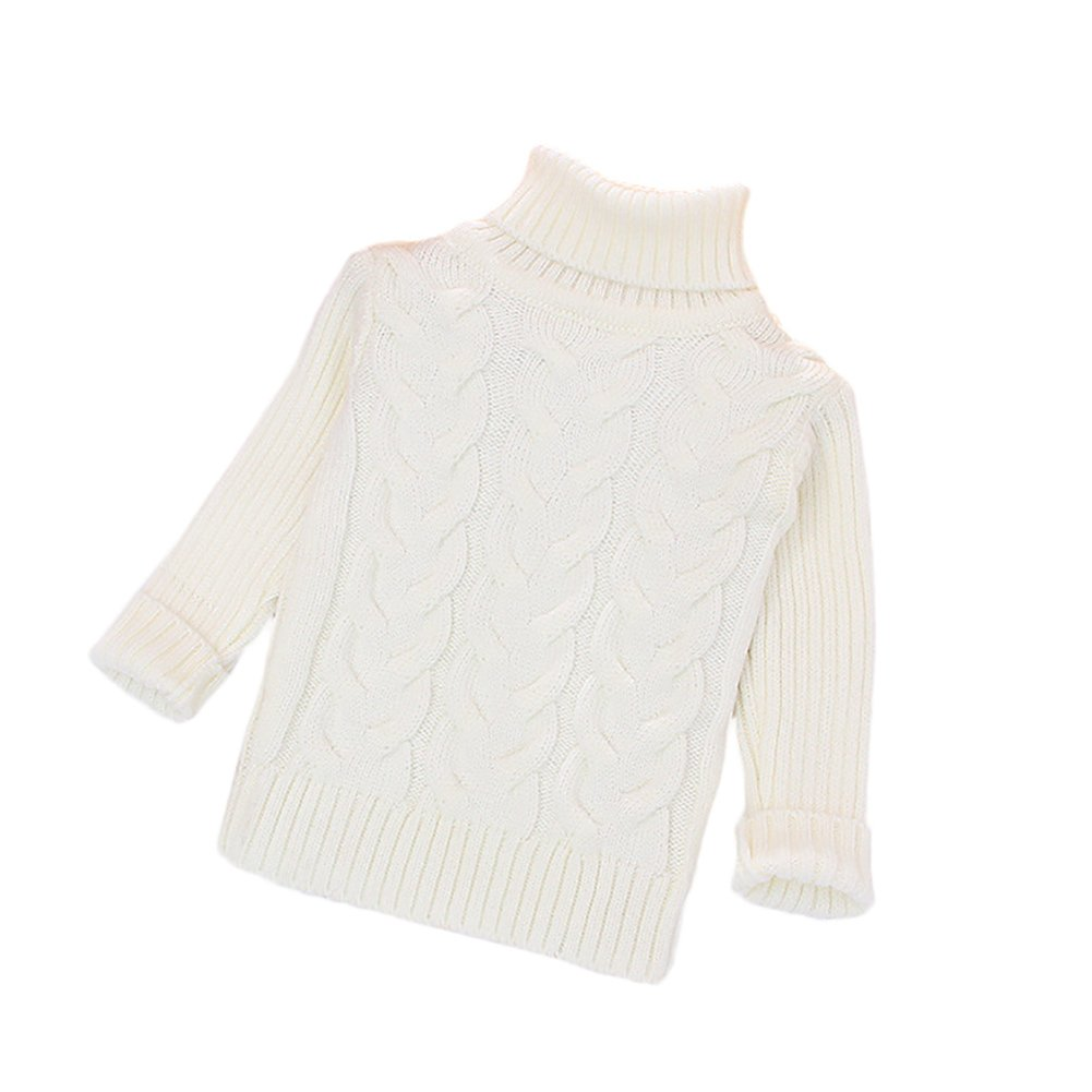 ZHUOTOP Kids Turtleneck Sweater Warm Boys Girls Knit Pullovers
