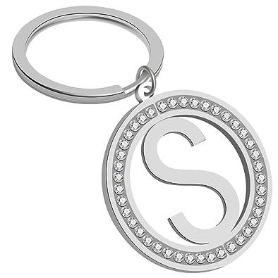 Amazon.com: Giftale - Llavero con letra S para niña con ...