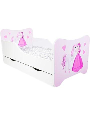 Cama infantil para bebé, 160 x 80 cm + colchón + cajón - Múltiples diseños
