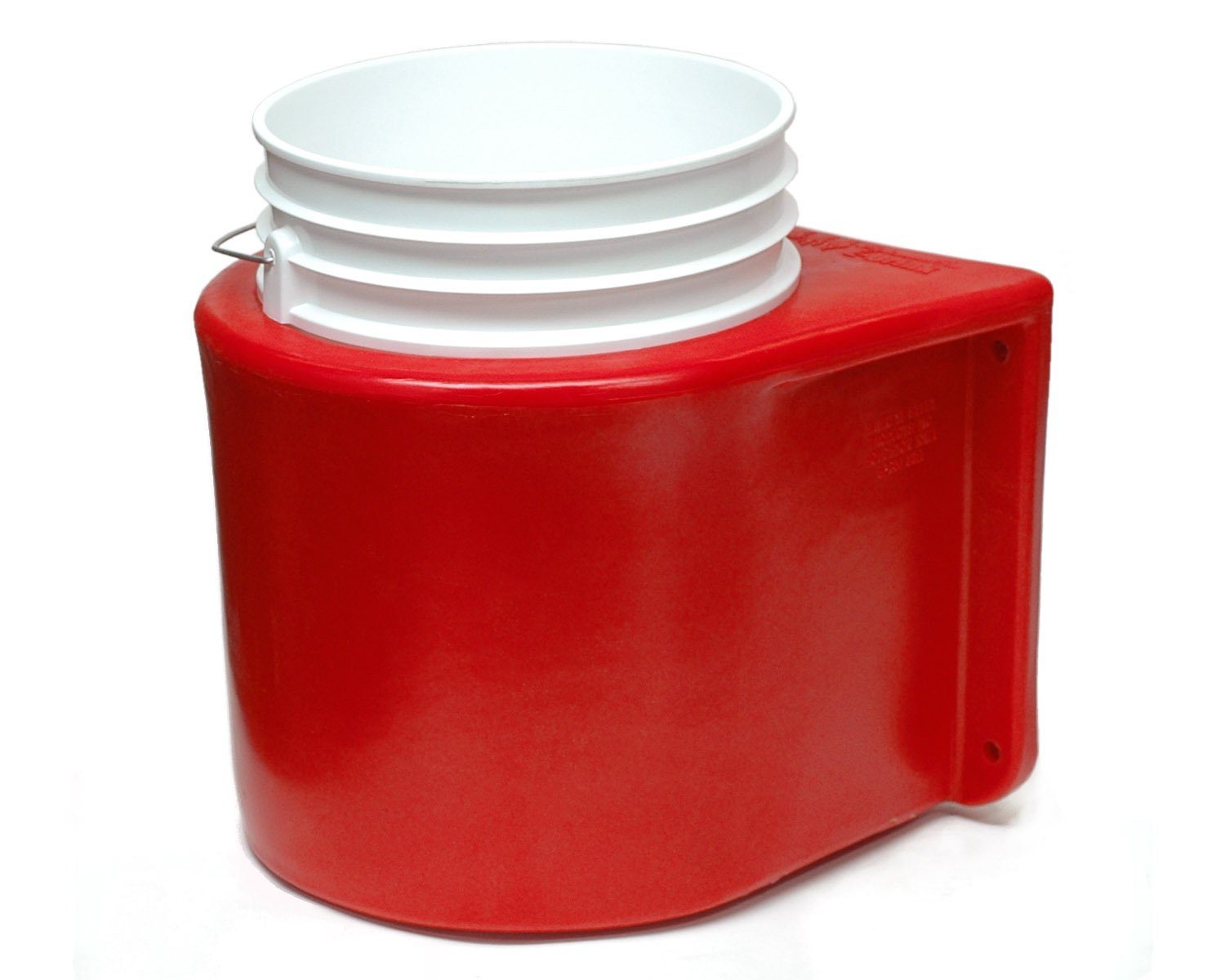 Brower MBH5R Insulated Bucket Holder, Bucket and Cover (Red)