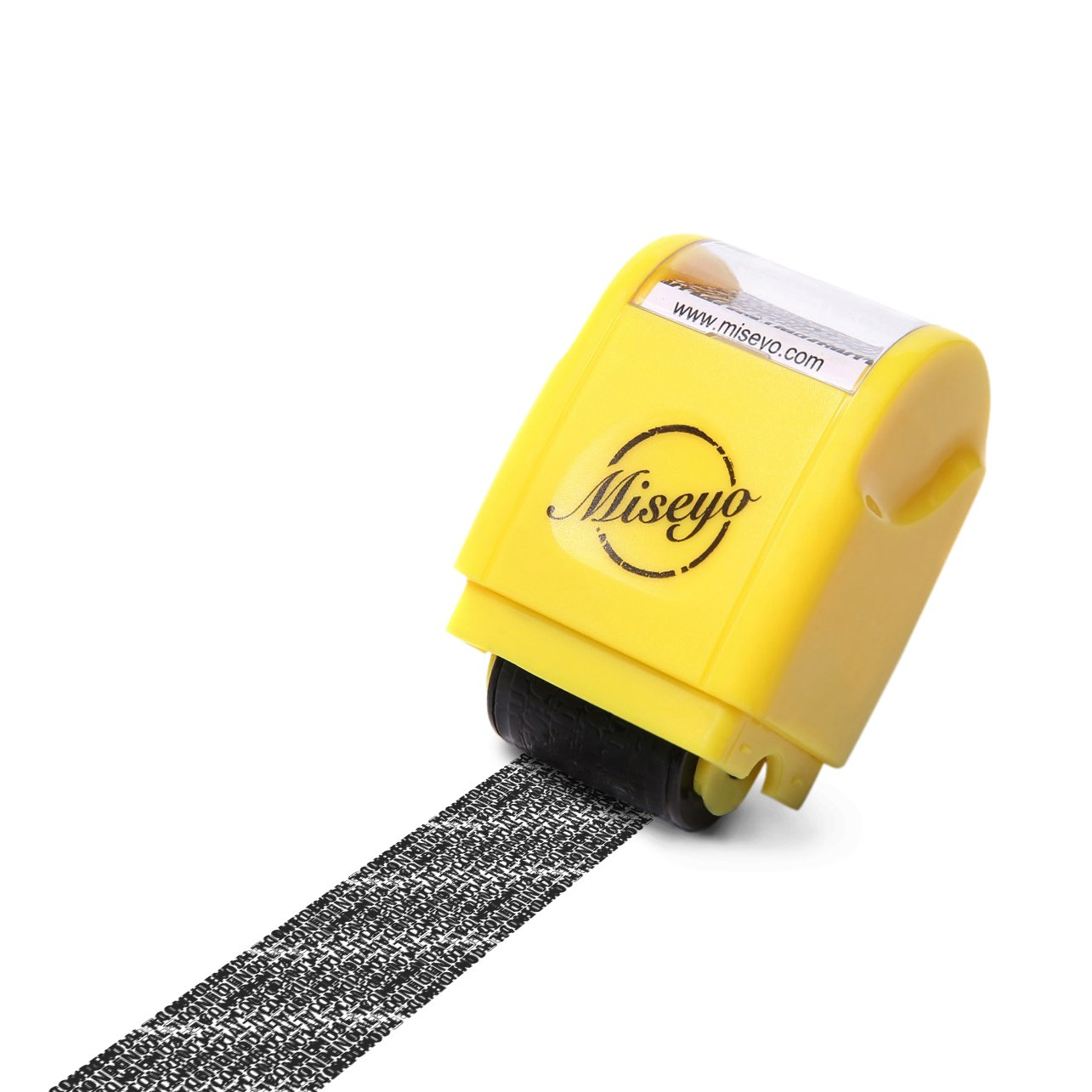 Miseyo Mini Identity Theft Protection Roller Stamp - Yellow
