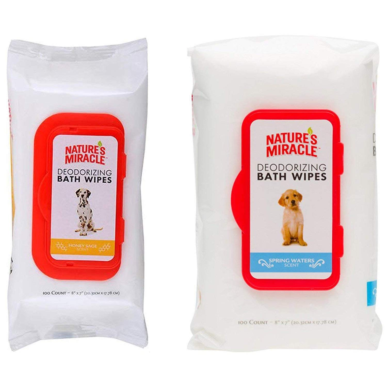 Maxtore Deodorizing Dog Wipes For Dogs & Puppy & More Small Pet Deodorizing Pet Grooming Bath Wipes & Paw Wipes Cleaner For Daily Use. Honey & Spring Flavors. Include Thematic Bonus.