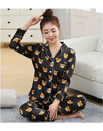 HAOLIEQUAN Fashion Men Pajama Sets Spring Autumn Pyjamas Set Nightwear Long-Sleeve  Cartoon Lovers Homewear 057837edb