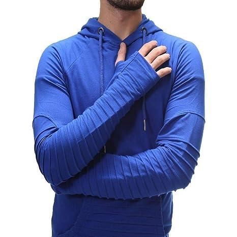 Manga Larga con Costura Color Blusa de Hombre y Liso de otoño e Invierno para Hombres camisetascon Costuras a Rayas en Color Puro para Hombre Blusa con ...
