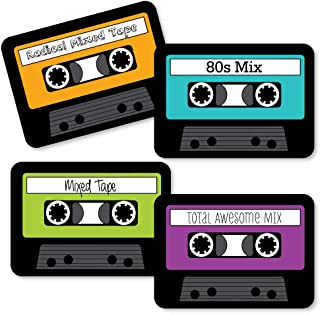 product image for 80's Retro - Paper Cassette Tape DIY Totally 1980s Party Essentials - Set of 20