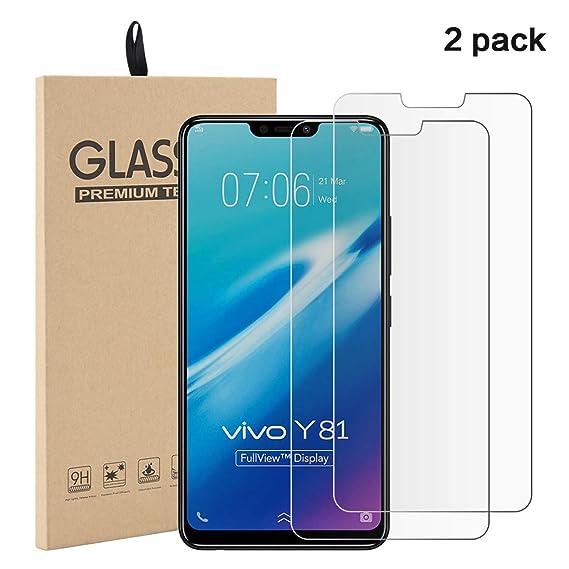 Amazon Com Vivo Y81 Screen Protector Tempered Glass Film Ultra