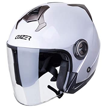 CRUIZER Casco Moto Scooter Jet homologado ECE 22 – 05, color blanco, ...