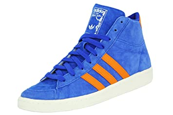 adidas Jabbar Mid Azul Naranja Ante Piel Hombres Zapatillas Zapatos de Moda Abdul Jabbar Baloncesto, Azul: Amazon.es: Deportes y aire libre