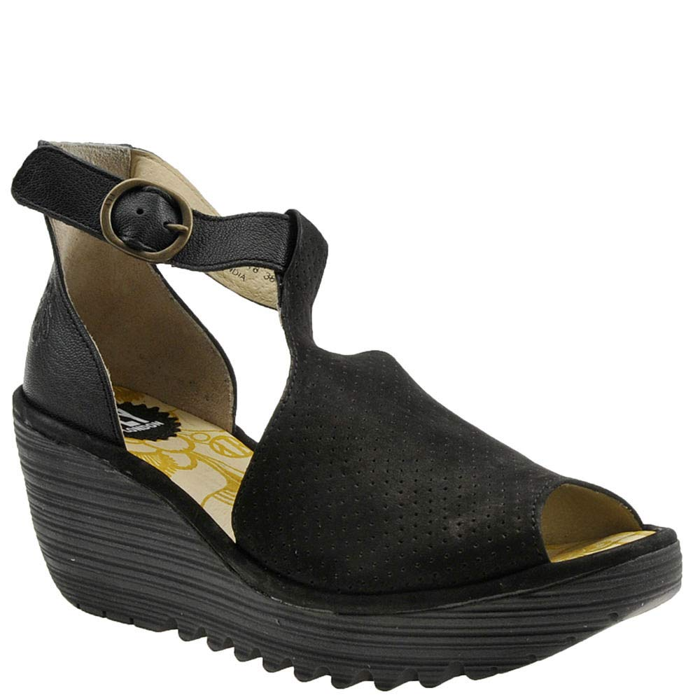 Black Cupido Mousse Fly London Womens YALL962FLY Sandal