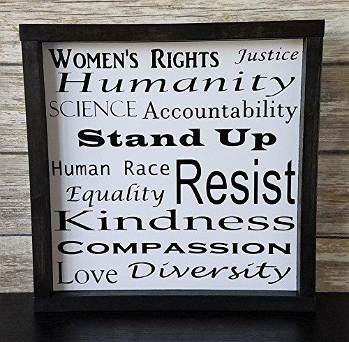 Resist Framed Wood Sign That Resist