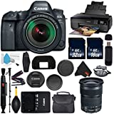 Canon EOS 6D Mark II DSLR Camera with 24-105mm f/3.5-5.6 Lens International Version (No Warranty) + Epson SureColor P600 Inkjet Printer + 16GB & 32GB SDHC Class 10 Memory Card + Carrying Case Bundle