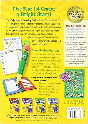 My 1st Grade Learning Book: Bright Start: 9781403751973: Amazon ...
