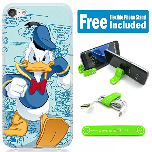 [Ashley Cases] For Apple iPhone 8 / iPhone 7 Cover Case Skin with Flexible Phone Stand - Donald Duck Mad Walking