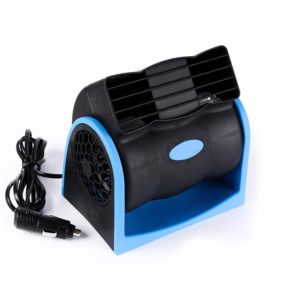 Véhicule 12V Vaneless Air-Conditioning Ventilateur, Silencieux Voiture Ventilateur de Circulation d'air de Refroidissement Automatique, Vitesse Réglable Bleu idéal pour Bébé et Animaux de Compagnie relangce